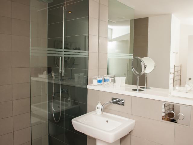 The Two Byres, self-catering on Isle of Skye, walk-in shower room