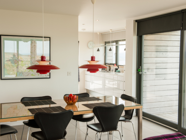 The Two Byres, self-catering on Isle of Skye, dining area and kitchen