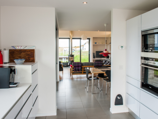The Two Byres, self-catering on Isle of Skye, view from kitchen