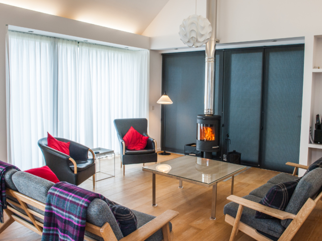 The Two Byres, self-catering on Isle of Skye, blinds and curtains