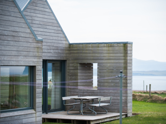 The Two Byres, self-catering on Isle of Skye, North-West deck
